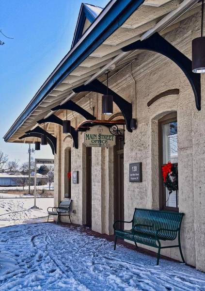 Wall Art - Photograph - Snowy Train Station by Linda Brown
