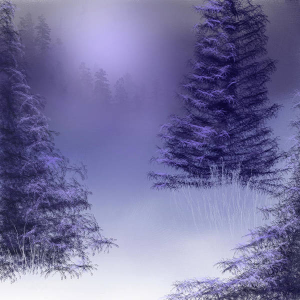 Wall Art - Painting - Snowy Valley by Tim Palmer