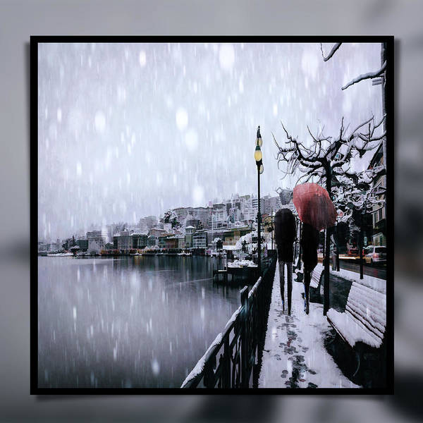 Park Bench Digital Art - Snowy Walk by Tim Palmer