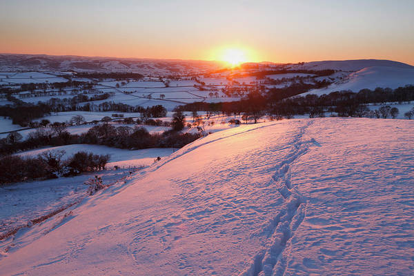 Wall Art - Photograph - Snowy Welsh Landscape by Eli Pascall-willis