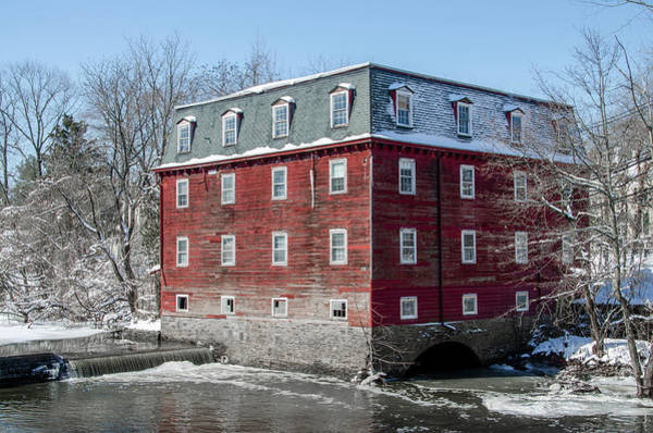 Photograph - Snowy Winter In Princeton - Kingston Mill by Bill Cannon