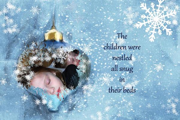 Associated Digital Art - Snug In Their Beds Christmas Card by Linda Cox