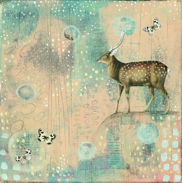 Deer Mixed Media - So Many Spots by Sarah Ogren