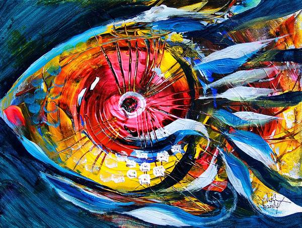 Painting - So, Yep, It's Pink Eye Fish by J Vincent Scarpace
