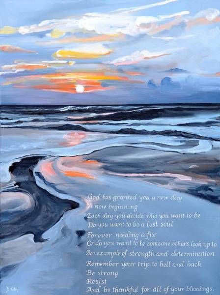 Alcoholism Painting - Sobriety Encouragement Painting by Donna Tuten