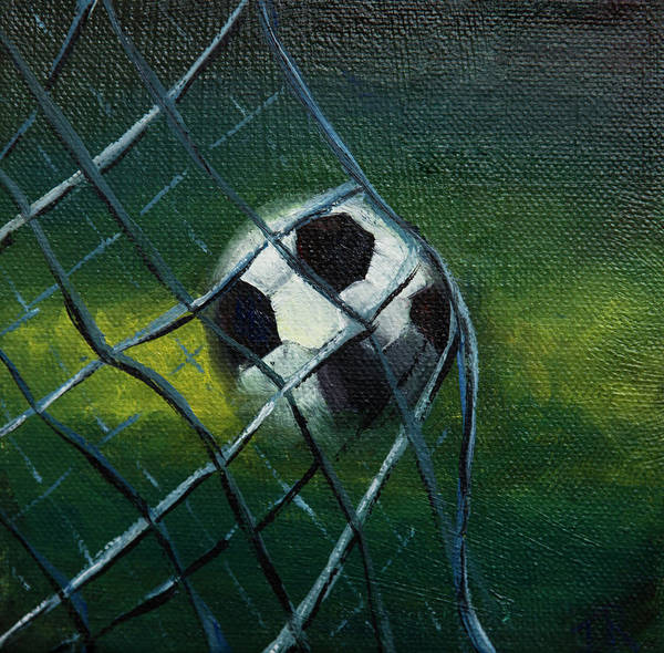Mfa Wall Art - Photograph - Soccerball In Net 2 by Iris Richardson
