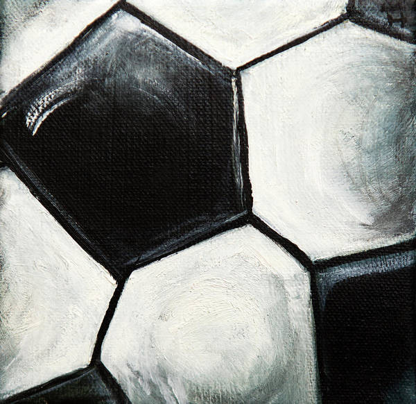 Mfa Wall Art - Photograph - Soccerball Macro by Iris Richardson