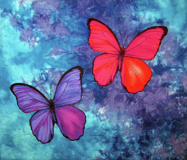 Tapestry - Textile - Social Butterflies by Pam Geisel