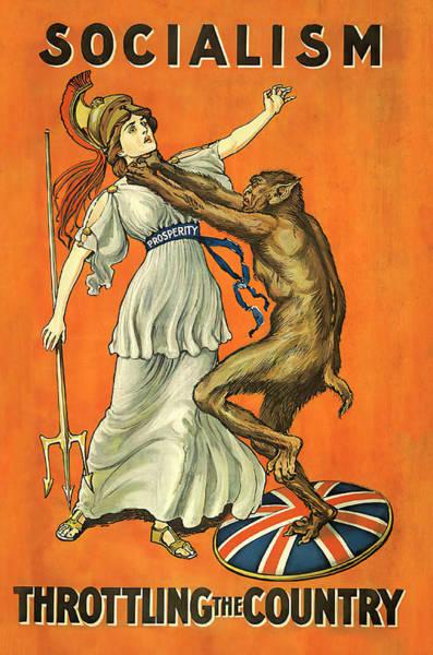 Wall Art - Photograph - Socialism Throttles Britannia 1909  by Daniel Hagerman