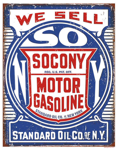 Wall Art - Digital Art - Socony Oil Sign by Greg Joens