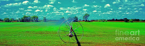 Photograph - Sod Farm Irrigator Ill Country Roads  by Tom Jelen