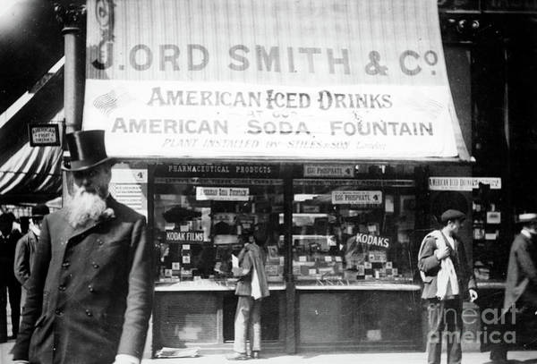 Wall Art - Photograph - Soda Fountain, C1910 by Granger