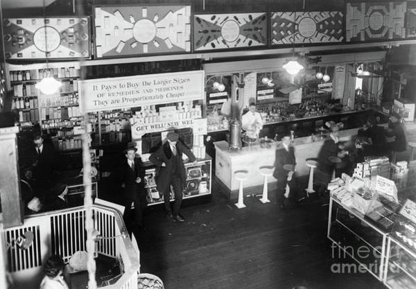 Photograph - Soda Fountain, C1920 by Granger