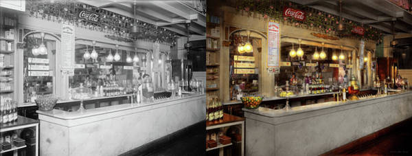 Photograph - Soda - We Serve Lozak 1920 - Side By Side by Mike Savad