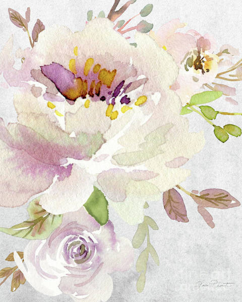 Wall Art - Painting - Soft Blossoms A by Jean Plout