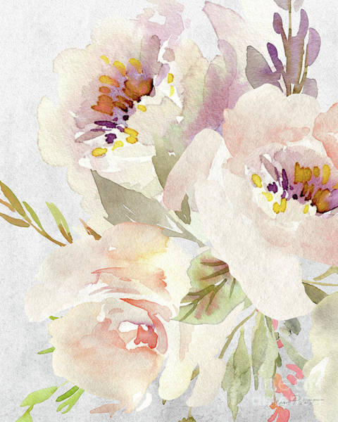 Wall Art - Painting - Soft Blossoms B by Jean Plout