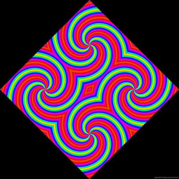 Wall Art - Mixed Media - Soft Colorful Twirl Design by George Art
