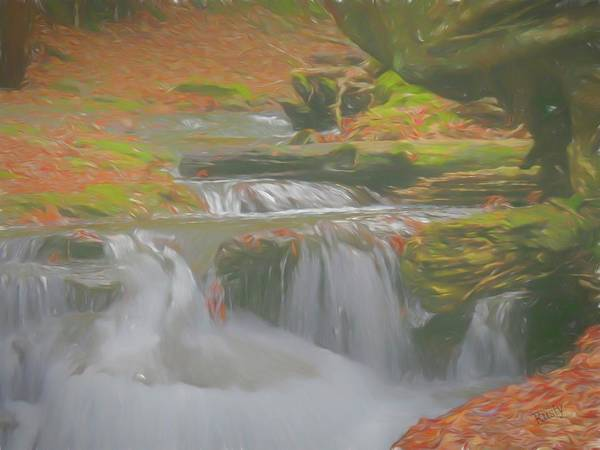 Digital Art - Soft Flowing Waterfalls. by Rusty R Smith