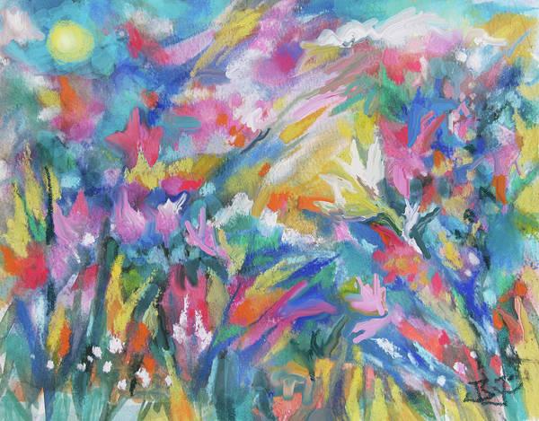 Painting - Soft Garden Breezes by Jean Batzell Fitzgerald