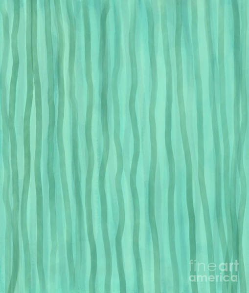Digital Art - Soft Green Lines by Annette M Stevenson