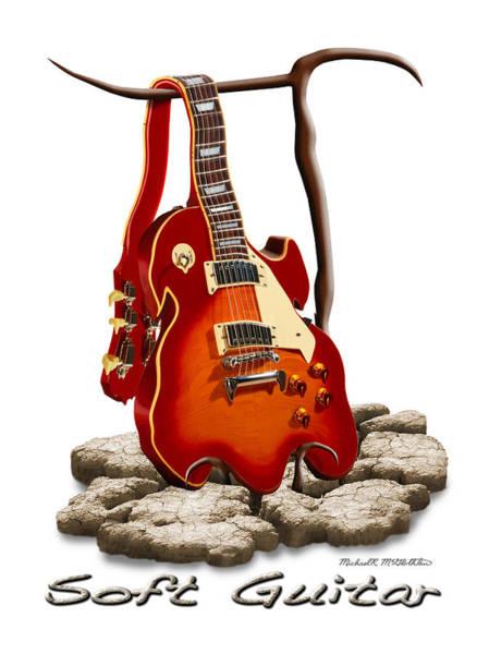 Electric Guitar Wall Art - Photograph - Soft Guitar - 3 by Mike McGlothlen
