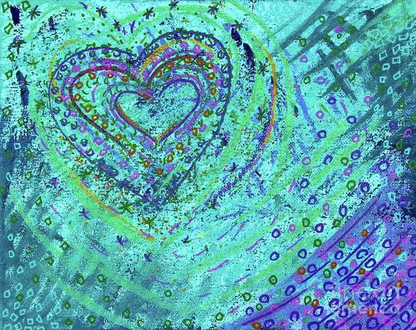 Painting - Soft Heart Of Green by Corinne Carroll