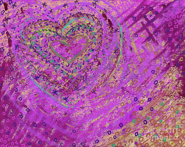 Digital Art - Soft Heart Of Pink by Corinne Carroll