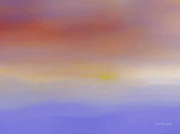 Painting - Soft Horizon by Dick Bourgault