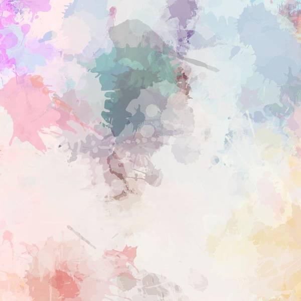 Digital Art - Soft Pastel Paint Splatter by Sheila Wenzel