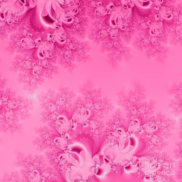 Digital Art - Soft Pink Frost Of Morning Fractal Abstract by Rose Santuci-Sofranko