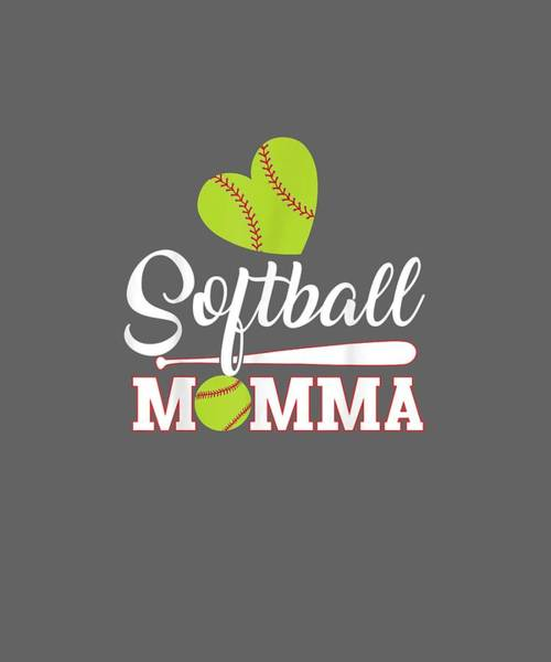 Wall Art - Digital Art - Softball Momma Catcher Pitcher Mothers Day Shirt For Mom by Unique Tees