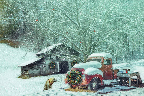 Photograph - Softly Snowing On A Nostalgic Christmas Eve by Debra and Dave Vanderlaan