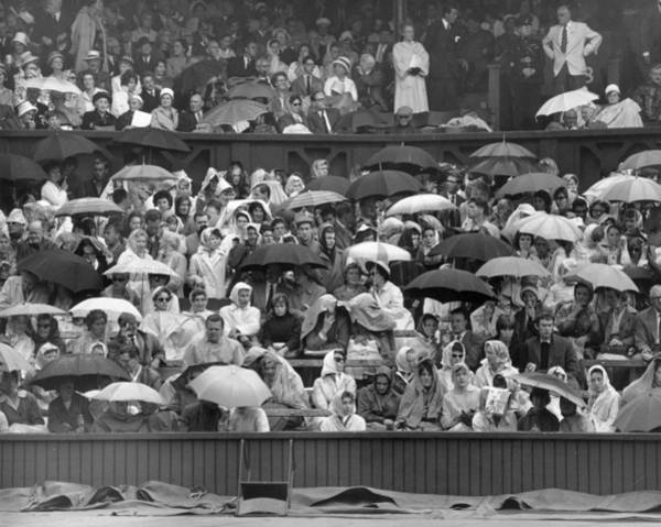 1961 Photograph - Soggy Supporters by Ron Stone