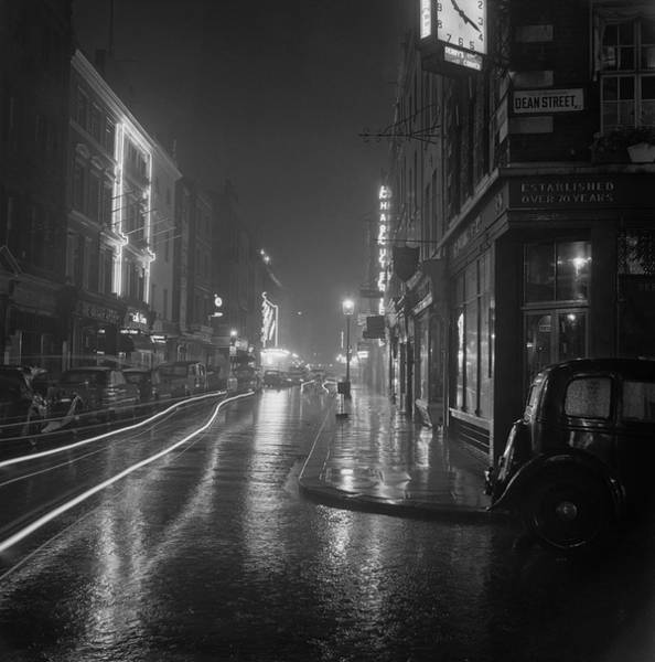 Night Photograph - Soho By Night by Bips