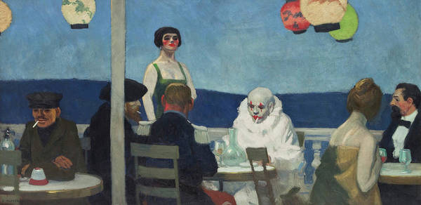 Wall Art - Painting - Soir Bleu, 1914 by Edward Hopper