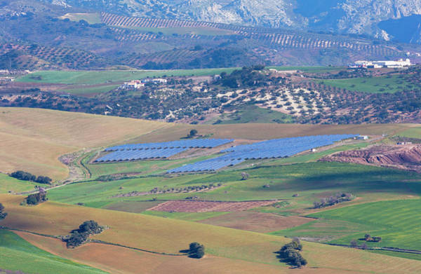 Wall Art - Photograph - Solar Panels, Andalusia, Spain by Ken Welsh