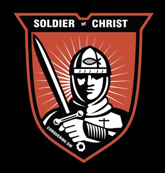 Wall Art - Digital Art - Soldier Of Christ  by Daniel Hagerman
