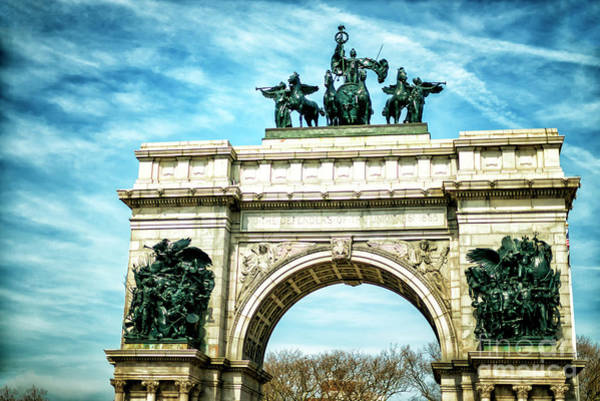 Photograph - Soldiers And Sailors Memorial Arch In Park Slope by John Rizzuto
