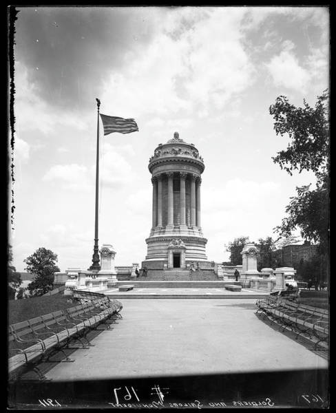 Historical Monument Photograph - Soldiers And Sailors Monument by The New York Historical Society