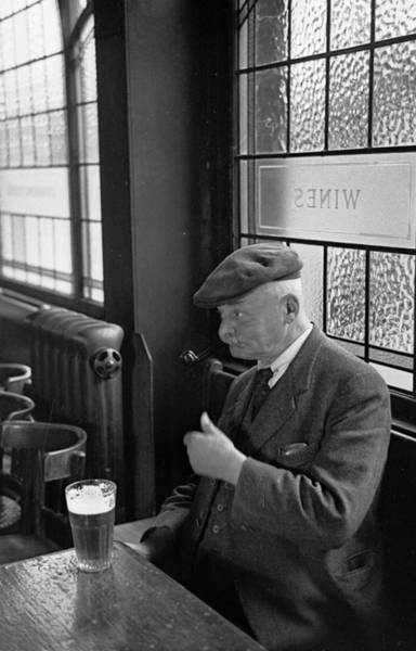 Lager Photograph - Solitary Drinker by Bert Hardy