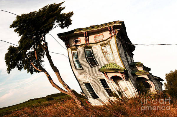 Digital Art - Solitary Farmhouse Twisted by Sue Harper
