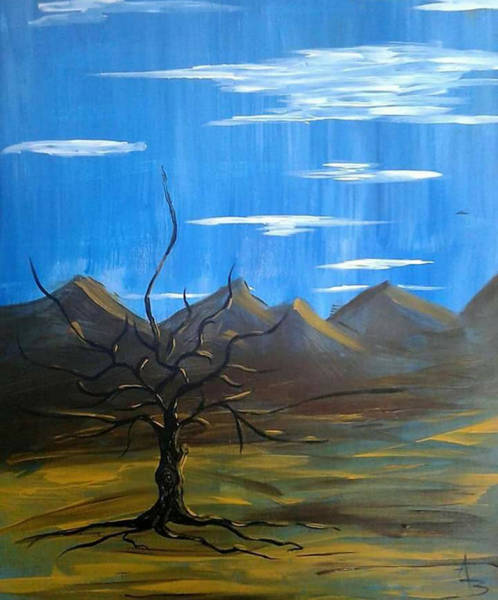 Painting - Solo And Beautiful  by Aaron Bombalicki