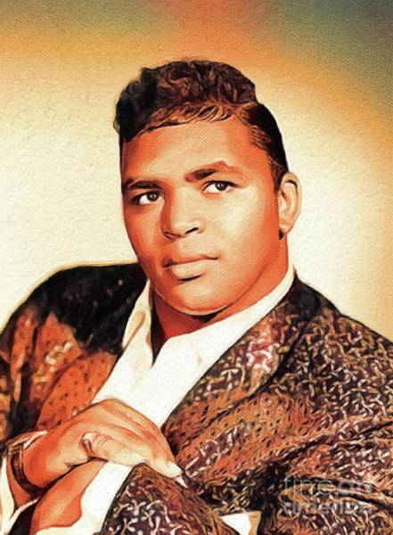 Wall Art - Painting - Solomon Burke, Music Legend by John Springfield