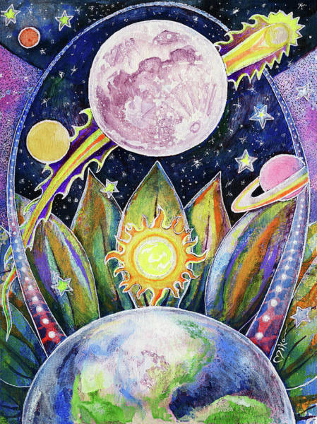 Wall Art - Painting - Solstice Moon by Miko Zen
