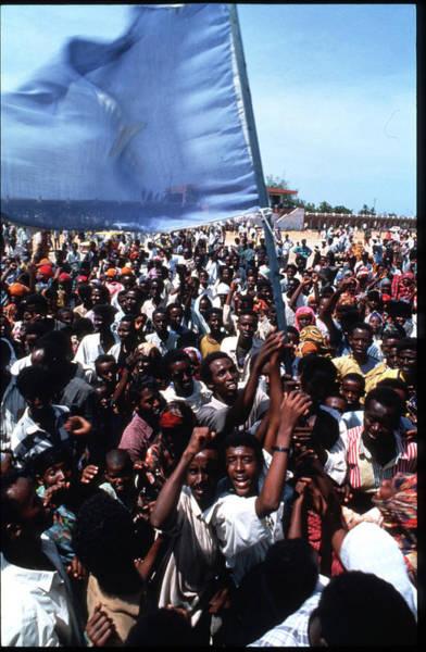 Mogadishu Wall Art - Photograph - Somalis Protest Un Use Of Force by Scott Peterson