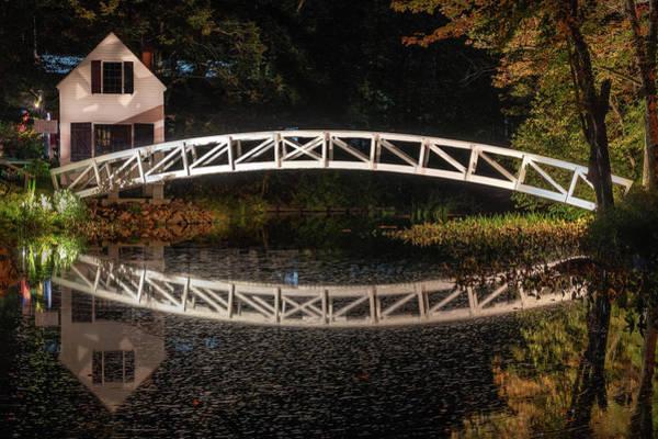 Photograph - Somesville Bridge At Night by Kristen Wilkinson