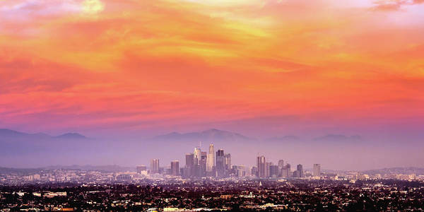 Los Angeles Skyline Photograph - Something In The Air Tonight by Aron Kearney