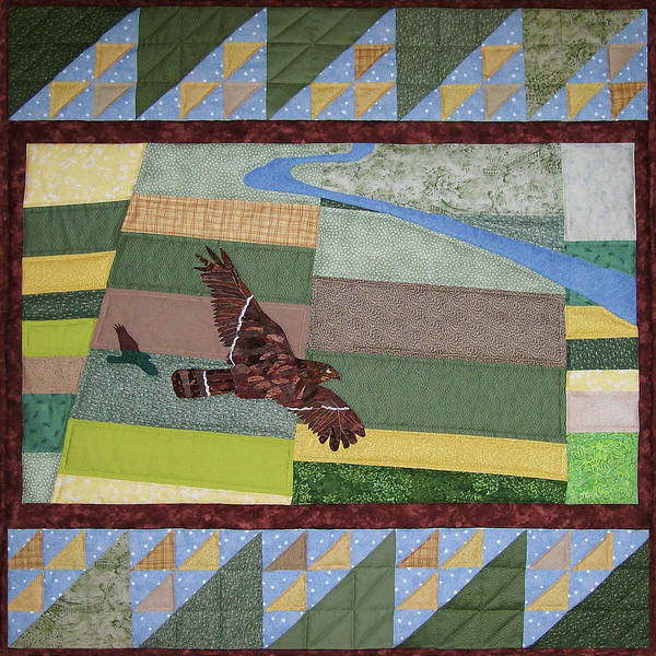 Tapestry - Textile - Sometimes I Dream Of Flying by Pam Geisel