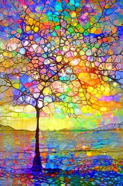 Distortions Digital Art - Sometimes We All Need A Little Colour by Tara Turner