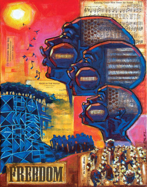Wall Art - Painting - Songs Of Freedom by Ken Daley